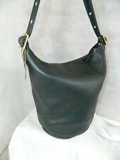 VERY RARE COACH Vintage Duffle Sac Feed Bag New York City 9085 Black Brass