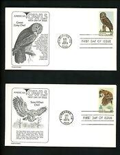 US FDC #1760-1763 Aristocrat 1978 Fairbanks AK American Owls Birds Set of 4