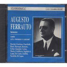 AUGUSTO FERRAUTO - Incisioni 1937-1940 - CD 1991 SIGILLATO SEALED