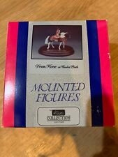 William Britains Mounted Horses #8105 Drum Horse on Wooden Plinth MIB