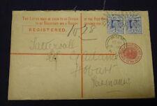 NSW 1901 Registered cover to Tattersall G Adams Hobart Tasmania. 7d Registered