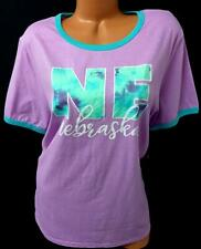 NWT Home free purple tie dye nebraska home free ringer tee top 3X