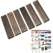 Foto Display Bilder Hölzerner Wandbehang Bilderrahmen mit Seil Foto Clip