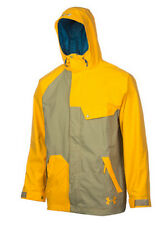 Under Armour Unchained Jacket Mens Snowboard Ski Waterproof L Yellow Gray