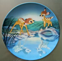 Walt Disney Bambi Collector's Plate By Knowles Title Bashful Bambi # 8874A