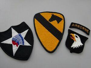 SONDERPREIS USA 3 Original Abzeichen 2nd Infantry Div. 1st Cavalry 101 Airborne
