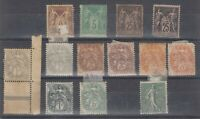 France 1900 Collection Of Blanc Type SG288/294 MLH J9363