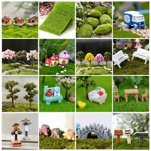 DIY Miniature Fairy Garden Lawn Ornament Decor Pot Craft Accessories Dollhouse