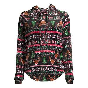 No Boundaries Christmas Super Soft Juniors Plush Hoodie Jacket