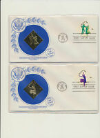 Dance Set of 4 Gold Foil USA First Day Covers # 1749 - 1752 Complete 1978 set