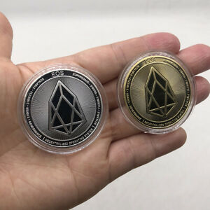 1+1 piece Gold & Silver EOS Metal Physical Digital Money Crypto Coin Great Gifts