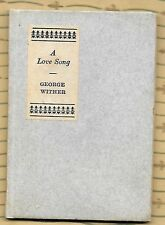 A Love Song by George Wither, illustrations by Will Bradley, Sign of the Vine
