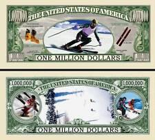 Snow Ski ~ Million Dollar Bill Collectible Fake Play Funny Money Novelty Note