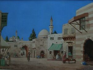 A MOORISH MARKET PLACE BY NOEL HARRY LEAVER - A STUNNING EXAMPLE OF HIS WORK