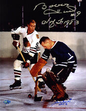 Bobby Hull and Johnny Bower DUAL SIGNED 11x14 Photo + HOF PSA/DNA AUTOGRAPHED