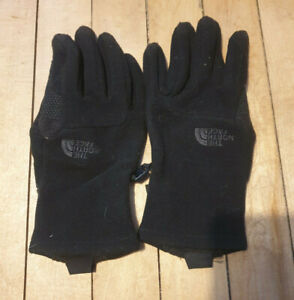 The North Face Gloves Size S Black Fleece FREE POST