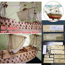 """Fun Diy Handmade Assembly Ship 21"""" Wooden Sailing 3D Victory Ship Boat Model Set"""