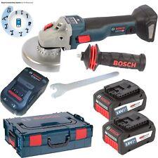 Bosch Akku Winkelschleifer GWS 18V-125 SC 2x6,3AH EneRacer GAL1880CV L-BOXX Gr.2