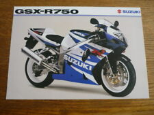 SUZUKI GSX -R750 MOTORBIKE BROCHURE 2001/02 - POST FREE (UK)