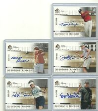 2005 UPPER DECK SP AUTHENTIC AUTHENTIC ROOKIES AUTOGRAPH LOT OF 5