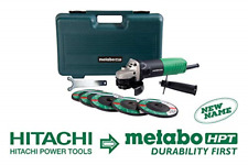 Metabo HPT G12SR4 4-1/2-Inch Angle Grinder, Includes 5 Grinding Wheels and Hard