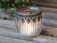 Teelichthalter Windlicht Kerzenglas Dekor Landhaus Shabby Vintage Chic Antique