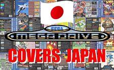 Sega Mega Drive Remplacement Box Art Case Insert Cover - JAPAN - High Quality