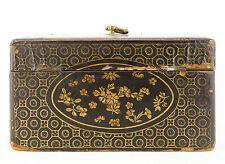 Art de l'asie : boite en bois laqué Lacquered wooden box china ?Japan ? lacquer