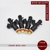 16450-RNA-A01 Set of 4 Fuel Injector Nozzle for Honda 06-11 Civic Fit 09-13 1.8L