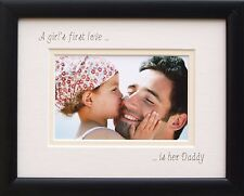 A Girls First Love is her Daddy Photo Frame 12 x 10 Black