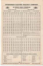1940 Timetable from the Interurban Electric Railway Co SF Berkeley Thousand Oaks