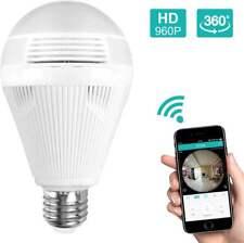 960P Security IP Camera 360° Panoramic 3D VR Mini  Wifi Wireless Light Bulb