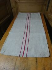 Antique European Feed Sack GRAIN SACK red Stripes # 10447