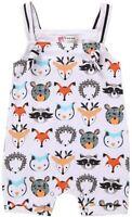 3-6M Baby Girl Boy Unisex Clothes Newborn Animal Print Bodysuit Romper