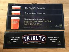 4 x Large Tribute Cornish Pale Ale Beer Bar Runners / Bar Mats / Rubber Backed