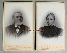 2 alte Kabinettfotos, Porträtfotos, Eheleute, Geestermünde BHV 1896, Photo