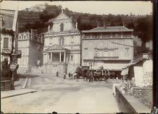 Puy de Dôme, Royat. La Place Allart  Vintage citrate print. Auvergne.  Tirage