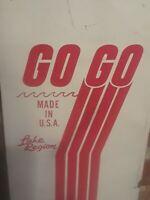 "Vintage Lake Region rare ""GO GO"" Wooden 66"" Water Skis Cabin Wall Decor"