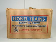 LIONEL TRAINS ORIGINAL 1954 SET BOX # 2231W for 2356 ABA SOUTHERN F3 SET SCARCE