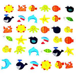 12pcs Neuheit Tiere Holz Kühlschrank Magnet Süße Kinder Spielzeug #JT1