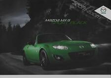 MAZDA MX- 5 SPORT BLACK  LIMITED EDITION SALES BROCHURE JULY  2011