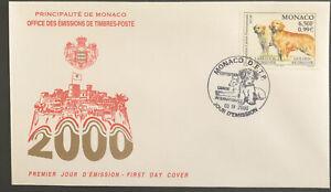 Monaco FDC 2000 Exposition Canine International