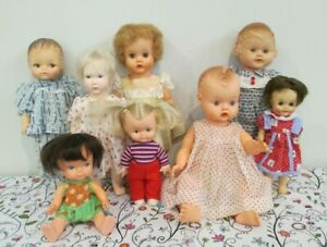 Adorable Vintage All Vinyl and Vinyl & Plastic Small Doll Lot