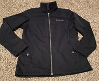 Columbia Women's •size Xs• Full Zip Fleece Lined Softshell Jacket Black