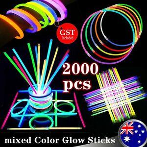 2000 mixed Color Glow Sticks Party Light Bracelets Disco Bulk Light in the dark