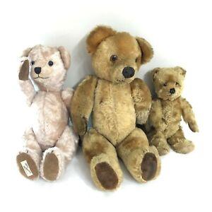 Vintage Adorable Dean's Reg Book Cuddly Teddy Bears X3 29cm 50cm 32cm 18029 CP