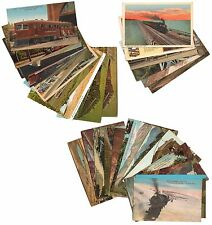 Lot of 26 Vintage to Modern Railroad Train Streetcar & Railway Depot postcards