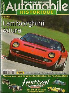 AUTOMOBILE HISTORIQUE 37 LAMBORGHINI MIURA MARQUIS DE PORTAGO BRABHAM BT19 20