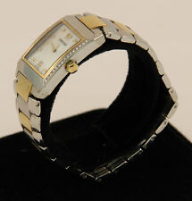 Classic Concord Stainless Steel and 18k Yellow Gold Luxury Diamond Estate Watch