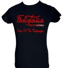 FANGTASIA ~ TRUE BLOOD ~BLACK LADIES T-SHIRT With RED GLOSS SIZE S-XXL